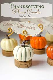 thanksgiving place card holders unoriginal