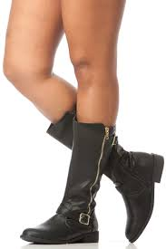 s boots calf length black faux leather quilted calf length boots cicihot boots