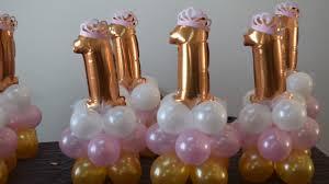 1st birthday princess balloon decoration centerpiece idea