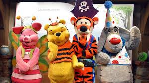 pooh tigger eeyore u0026 piglet in halloween costumes meet us at