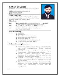 Sample Resume Format For Bpo Jobs Job Model Of Resume For Job
