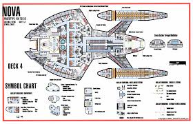 spaceship floor plan deck three floorplan of nova class starship star trek nova