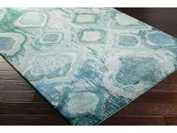 Mint Green Area Rug Teal Abstract Area Rugs Luxedecor