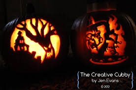 the creative cubby evans pumpkin carving 2012