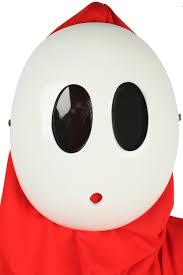 white halloween mask cosmask mario series shy kawaii white mask cosplay and