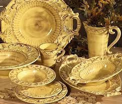Baroque Home Decor Tuscan Dinnerware Italian Ceramic Gold Tuscan Horchow 16pc