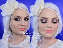 frozen princess elsa makeup hair tutorial smashinbeauty