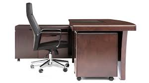 light quincy modern desk with rolling return and file cabinet