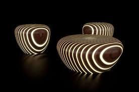 modern wood modern wood furniture that glows in the milan 2010