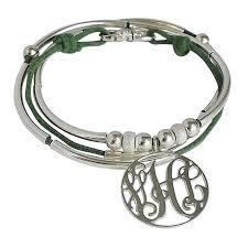monogram bracelet silver monogram silver wrap bracelet zoe and