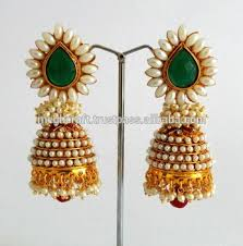 antique gold jhumka earrings antique jhumka earrings peacock earrings one gram gold plated