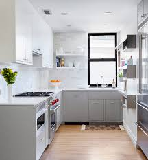 kitchen small kitchen features white and grey cabinet with white