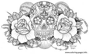 sugar skull coloring pages free printable