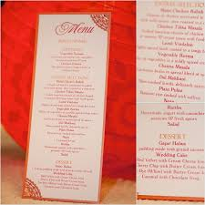 ceremony cards for weddings wedding reception menu card wedding decor details