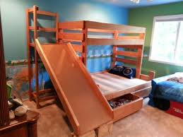 Bunk Beds - Twin over full bunk bed with slide
