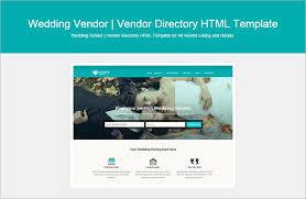 wedding vendor websites html wedding website templates themes free premium