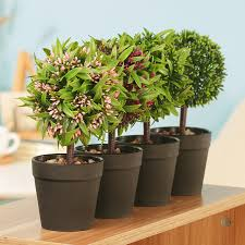 Artificial Topiaries - aliexpress com buy mini fake bonsai flower plants potted indoor