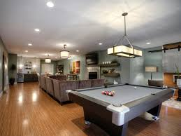 spacious game room design ideas with nice gray pool table game
