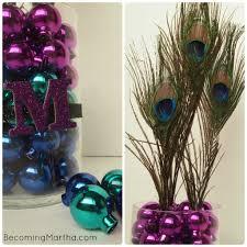 Peacock Centerpieces Peacock Centerpiece For A Party Or Modern Christmas Decor