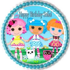 lalaloopsy cake topper lalaloopsy edible birthday cake or cupcake topper edible prints