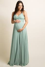 maternity evening dresses mint green chiffon halter tie back maternity evening gown