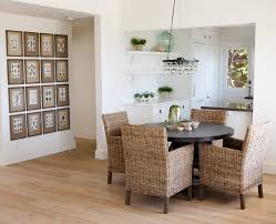 Dining Room Table With Wicker Chairs Jobseducationcom - Stylish dining table with wicker chairs house