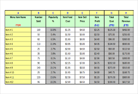 Engineering Excel Templates Menu Templates 28 Free Excel Pdf Psd Documents