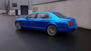 chrome bentley blue chrome wrapped bentley by carstyle youtube