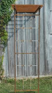 half mission arbor trellis for wall attachment 87
