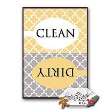 Dirty Clean Dishwasher Magnet Clean Dirty Dishwasher Magnet Sign For Dishes U2013 Elegant Quatrefoil