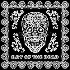 day of the dead and dia los muertos background black