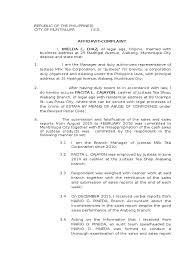 Format Of Letter Of Complaint sample complaint affidavit for estafa case criminal justice