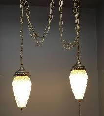 hollywood regency swag l vintage hollywood regency double swag light with clear 5 x12