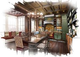 Kitchen Design Country Style Kitchen Interior Design Pictures Photos And Drawings Of Kitchen
