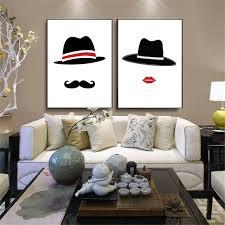 bedroom supplies haochu mr mrs hat painting cap watercolor backdrop home decor wall