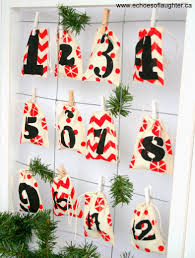 stencilled muslin bag advent calendar echoes of laughter