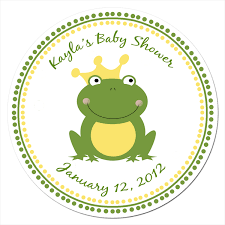 frog baby shower baby shower sticker labels babyshower4u
