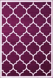 Geometric Area Rug by Large Modern Geometric Moroccan Trellis Thin Carpet Purple