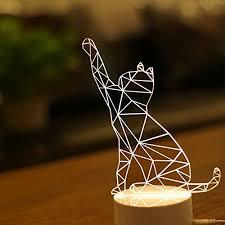 usb cat night light htg4 led illusion micro usb led night light deco table desk l 3d