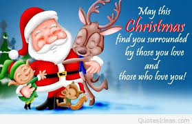 santa merry for friends quote