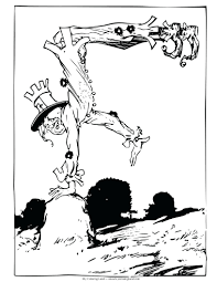scarecrow coloring sheets free headless horseman pages