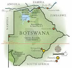 africa map kalahari desert destinations botswana safaris guided safaris africa