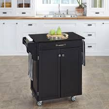 crosley black kitchen cart with granite top kf30053bk the home depot
