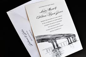 Easy Wedding Programs Bridge Skyline Wedding Invitations