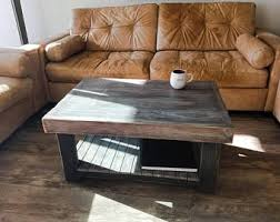 Grey Wood Coffee Table Gray Coffee Table Etsy