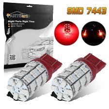 lexus gx470 turn signal socket 2x red 60 led bulb 3528 smd 7443 7440 t20 tail stop brake signal