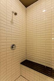 beadboard bathroom ideas top subway tile showers images about tile trim on shower wall on