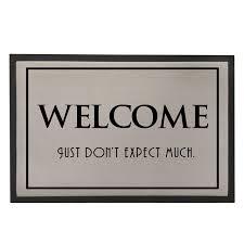 funny welcome welcome doormat rubber flooring door mat for entrance door grey