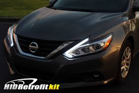 2016 nissan altima modified 16 18 nissan altima custom led retrofit headlights