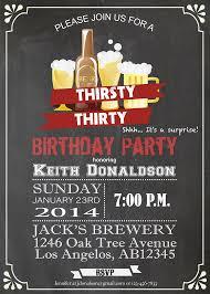 men 30th birthday chalkboard invitation birthday party